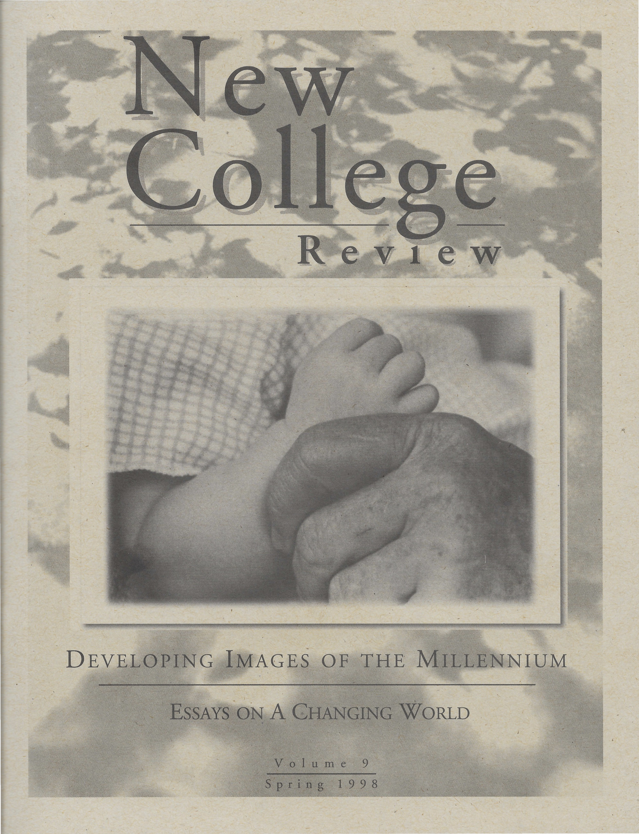Cover for New College Review issue from Spring 1998 titled