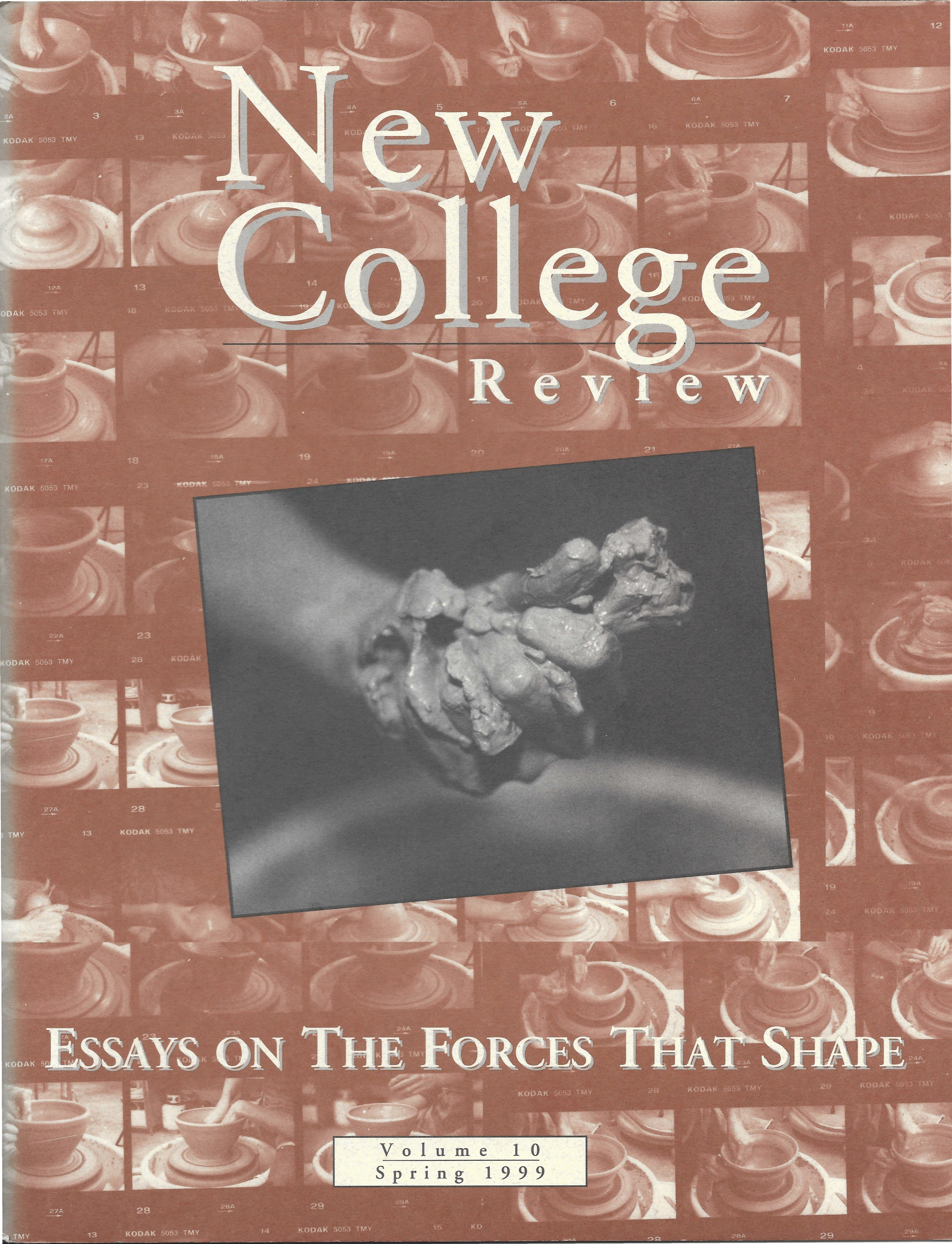 New College Review Volume 10 cover from Spring 1999 titled