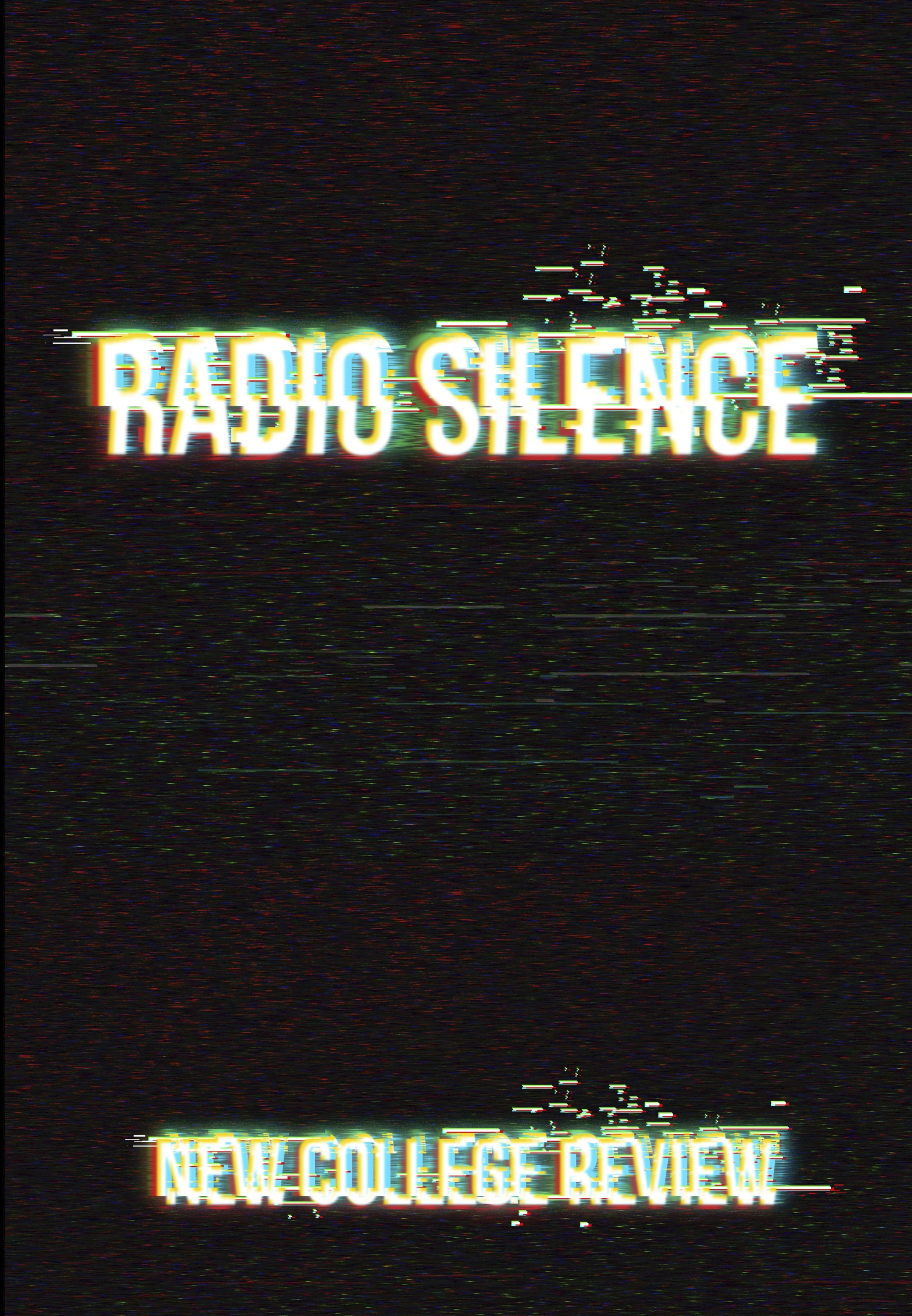 2017 issue cover of The New College Review with the title Radio Silence